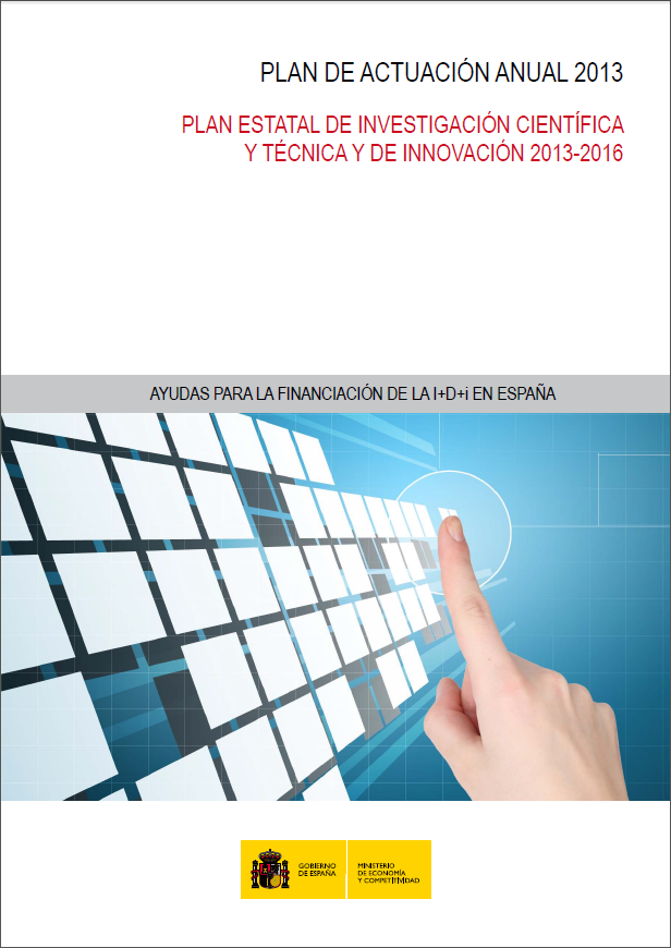 Actuation Annual Paln 2013-2016 (Spanish Ministry of Economy and Competitiveness)