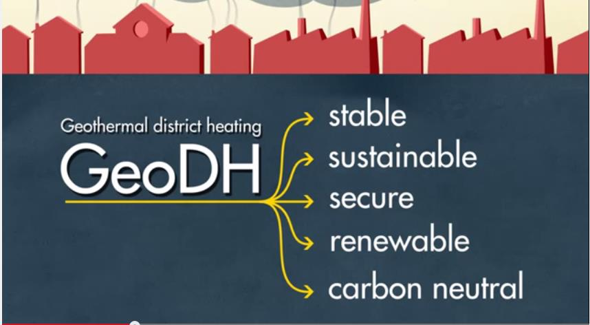 What is geothermal district heating?