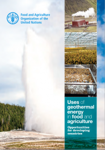 Uses of geothermal energy in food and agriculture. Opportunities for developing countries (cover)