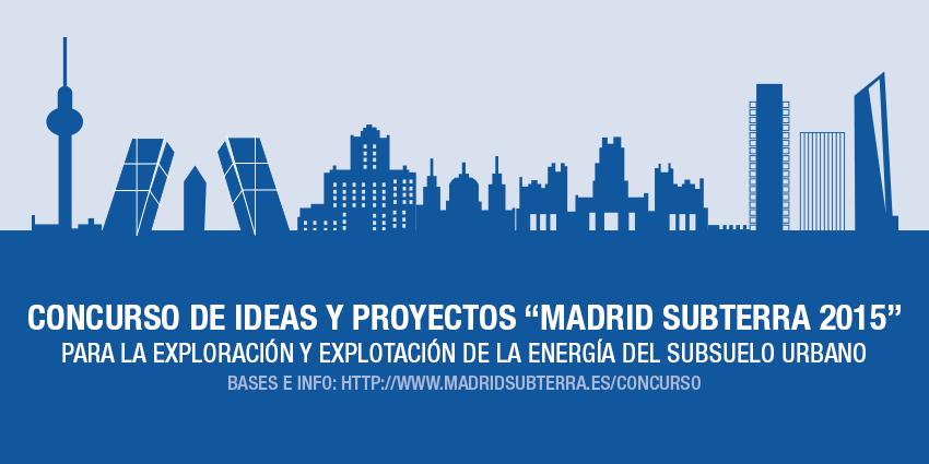 el Primer Concurso de Ideas y Proyectos para aprovechar la energía del subsuelo urbano