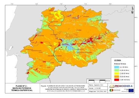 Nuevo mapa de recursos geotérmicos de Extremadura y Alentejo