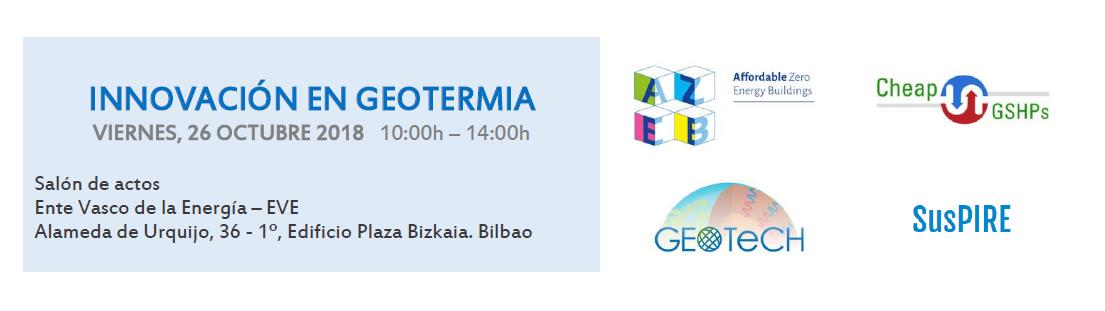 Jornada 'Innovación en Geotermia' (Bilbao, 26 octubre)
