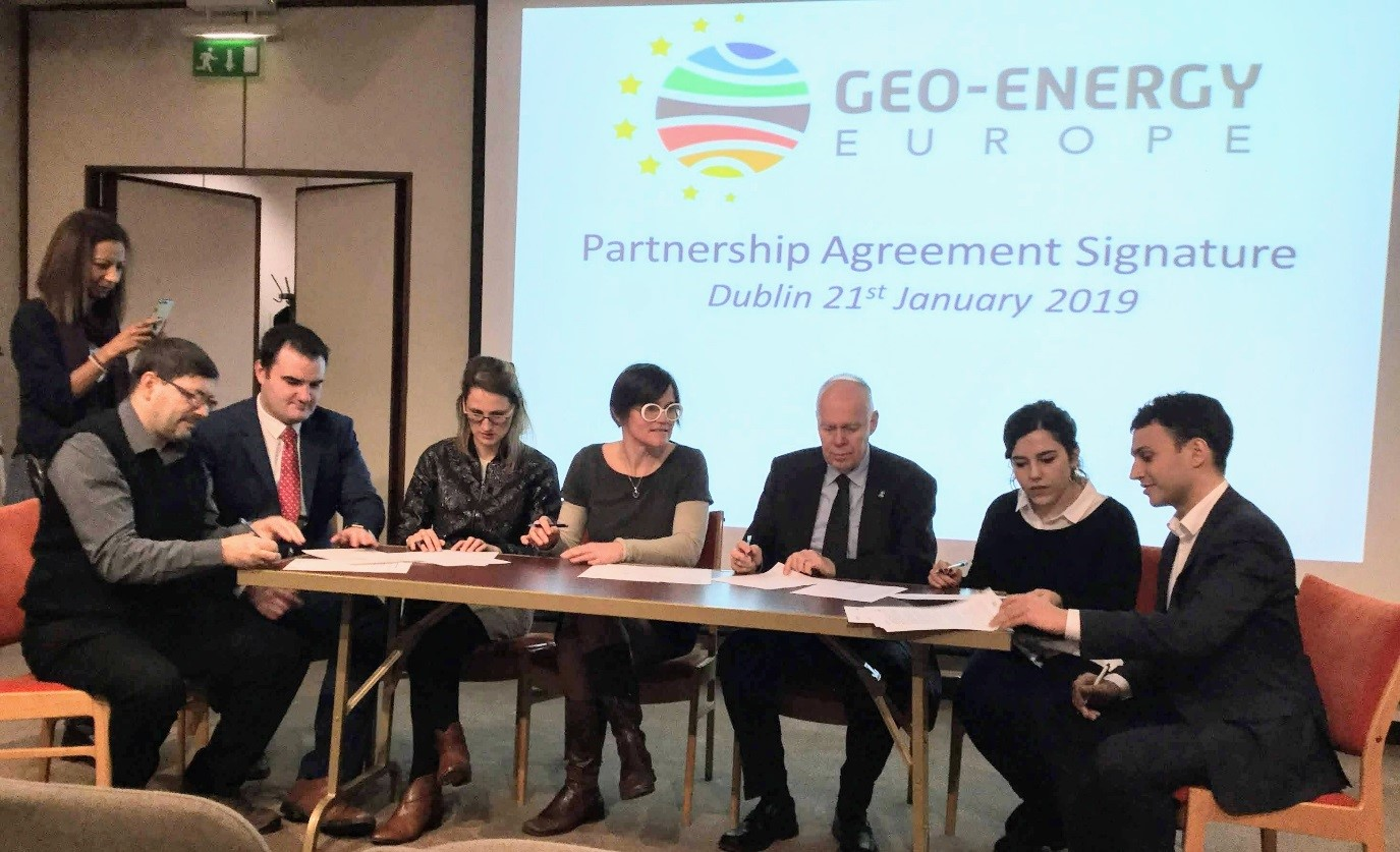 Partners sign agreement establishing the GEO-ENERGY EUROPE metacluster, with the aim of exporting European geo-energy know-how & technologies to world markets