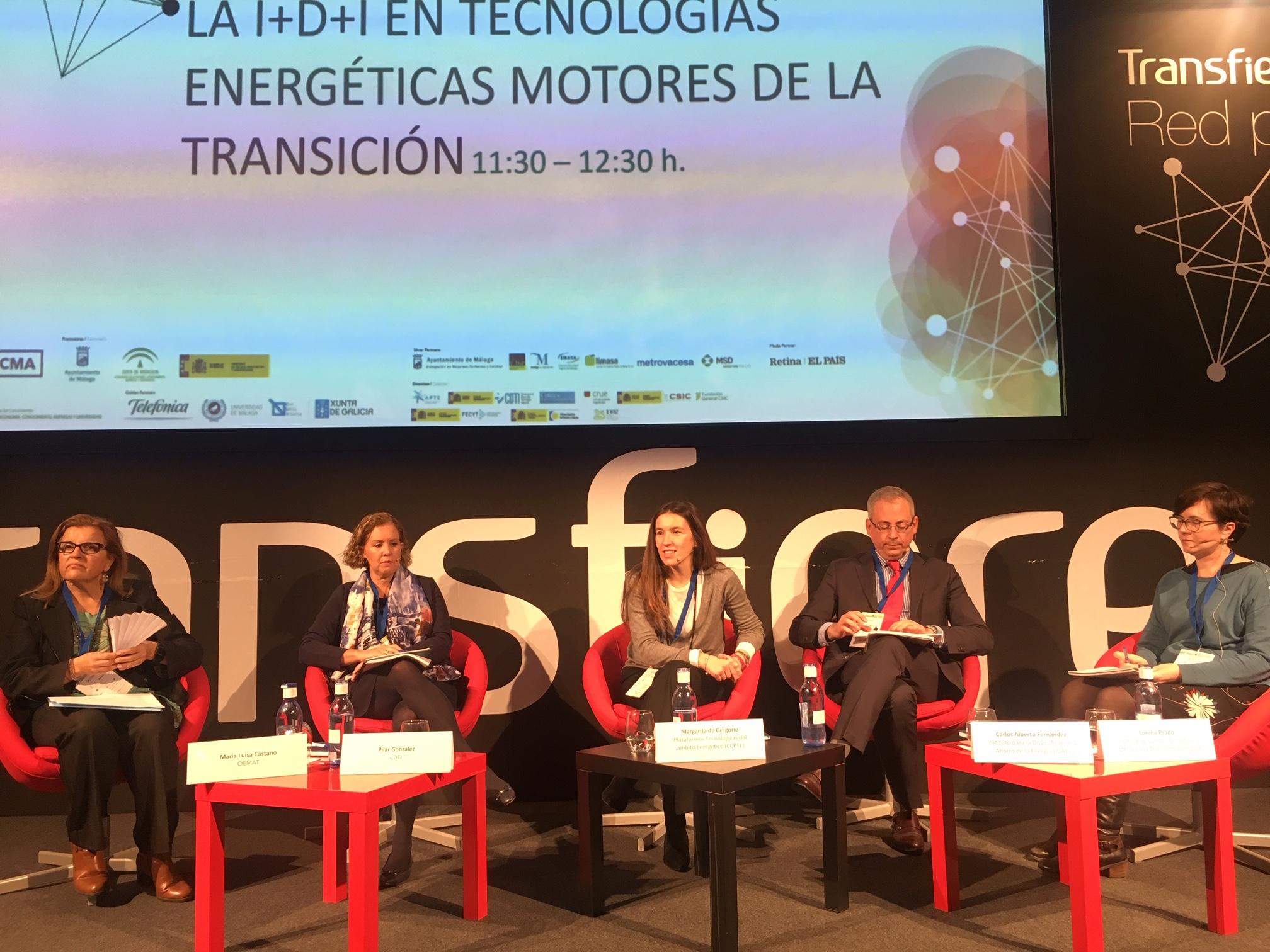 (Español) BIOPLAT y GEOPLAT participan en la Mesa Redona 'La I+D+i en las tecnologías energéticas motores de la transición' en TRANSFIERE 2019