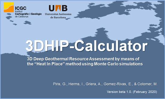 3DHIP-Calculator: nuevo software para la evaluación del potencial geotérmico profundo
