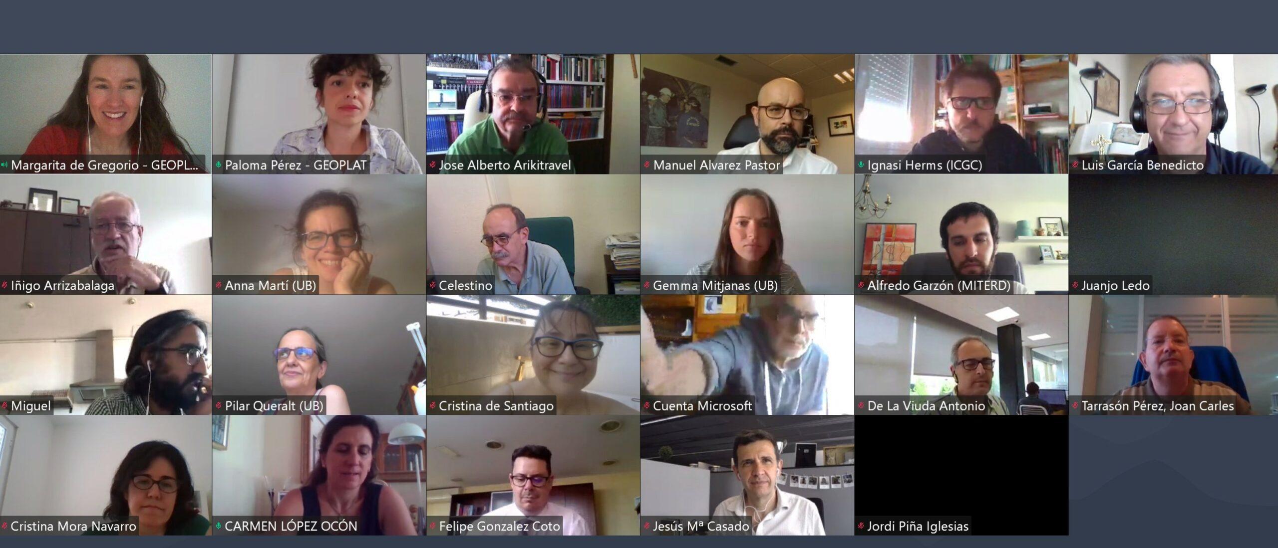 Presentaciones disponibles: Asamblea GEOPLAT 2020 (23 julio)