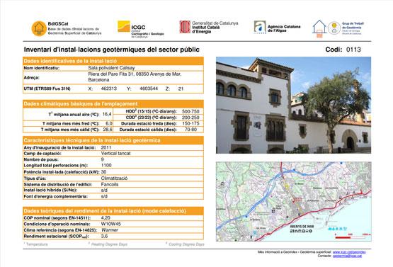 El ICGC, miembro promotor de GEOPLAT, publica el tercer número de 'Geotermia superficial. Inventario de sistemas geotérmicos superficiales en Cataluña'