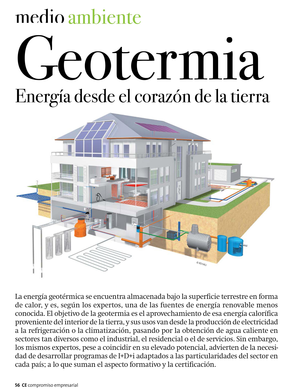 Geotermia. Energía desde el corazón de la Tierra (Compromiso Empresarial | enero-febrero 2014)