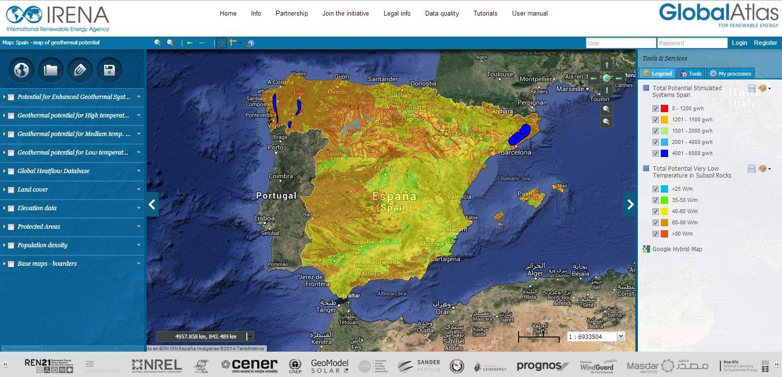 El Atlas Global de las Energías Renovables de IRENA incorpora datos sobre el potencial geotérmico en España