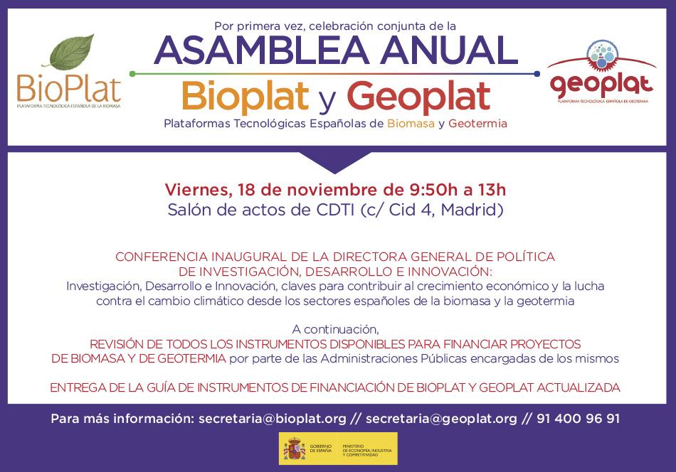 Abierto periodo inscripción: Asamblea 2016 de GEOPLAT (viernes 18 noviembre | 9:30h | Madrid)