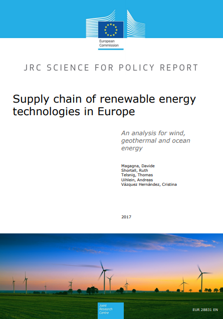 Supply chain of renewable energy technologies in Europe: An analysis for wind, geothermal and ocean energy