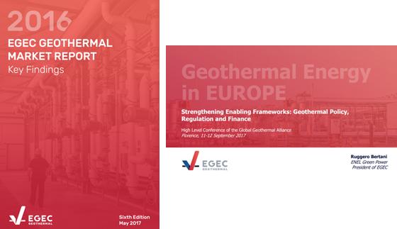 Dos informes que recogen los datos de mercado y marco regulatorio del sector geotérmico elaborados por EGEC