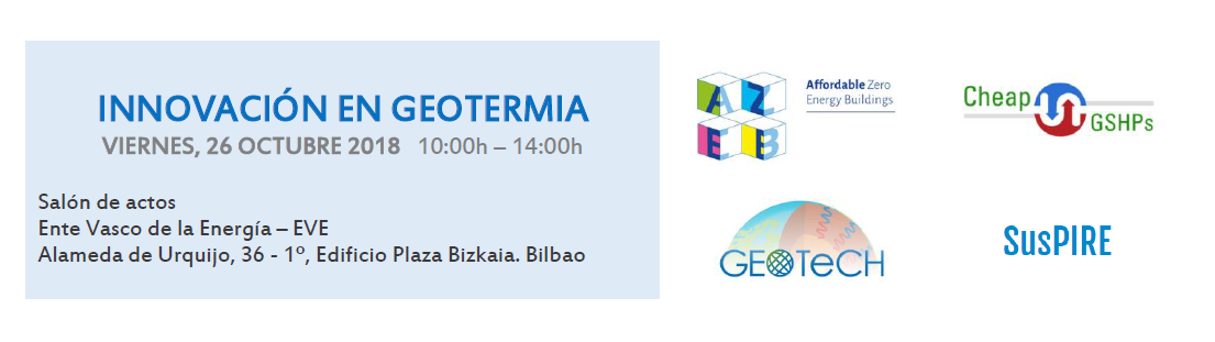 (Español) Jornada 'Innovación en Geotermia' (Bilbao, 26 octubre)