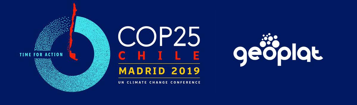 GEOPLAT en la COP25 'ACCIÓN POR EL CLIMA'
