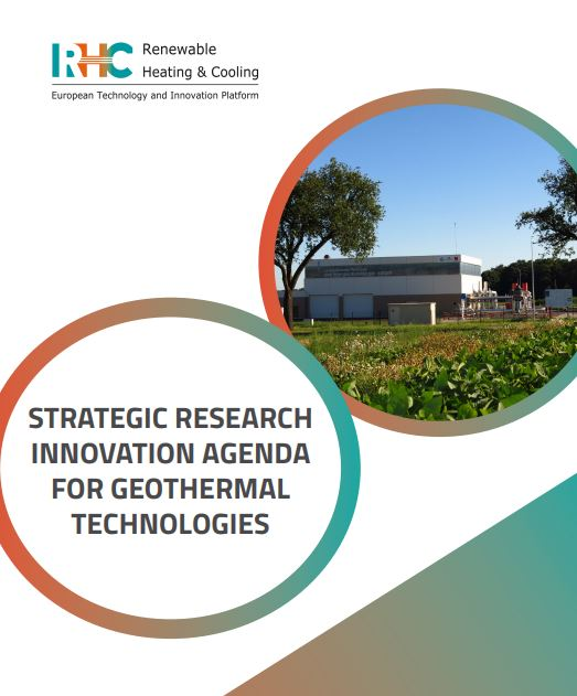 La Plataforma Tecnológica y de Innovación Europa de Climatización Renovable publica la Strategic Research and Innovation Agenda for Geothermal Technologies