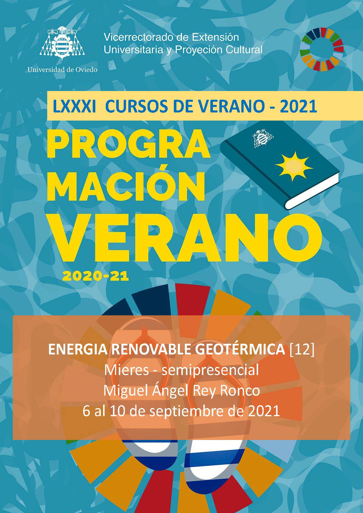 """(Español) Curso de verano Cátedra Hunosa: """"Energía Renovable Geotérmica: de la teoría a la práctica"""" (6 al 10 septiembre 2021)"""
