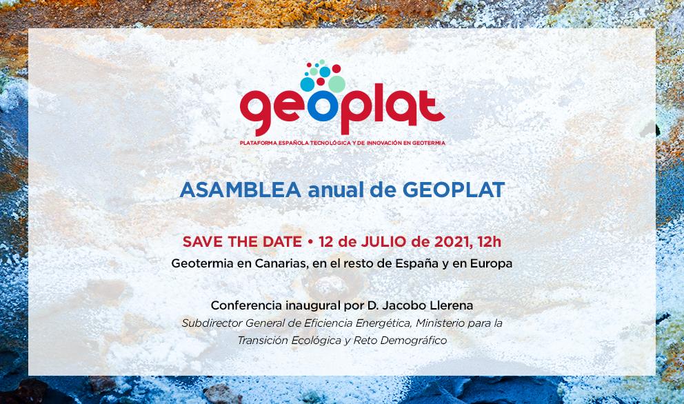 (Español) SAVE THE DATE: ASAMBLEA GEOPLAT 2021 (12 julio, 12h)